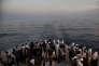 Le 25 juin, sur le pont de l'« Aquarius », navire affrété par l'association SOS Méditerranée pour sauver les naufragés.