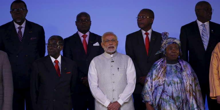 Le premier ministre indien Narendra Modi a reçu, le 29 octobre 2015, 34 chefs d'Etat africains à New Delhi pour un forum Inde-Afrique.