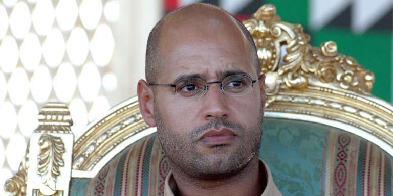 Saif Al-Islam lors d'une cérémonie officielle àGharyan (au Sud de Tripoli), le 18 août 2007.