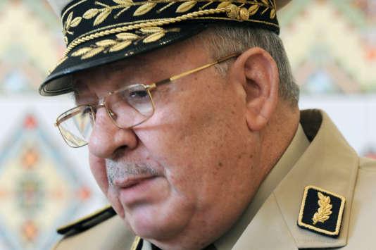 Le chef d'état-major algérien et vice-ministre de la défense, Ahmed Gaïd Salah, à Alger, en mai 2014.
