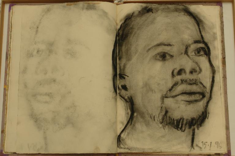 Une page issue des centaines de carnets d'artiste de Miquel Barcelo (carnet n°9, page 21, 1988)