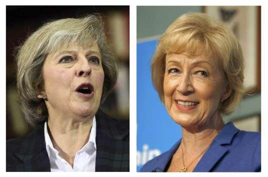Theresa May et Andrea Leadsom sont les deux candidates à la succession de David Cameron.