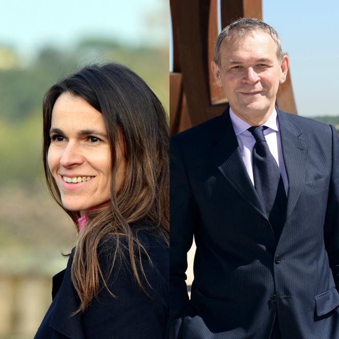 Aurélie Filippetti à gauche etJean-Jacques Aillagon à droite.