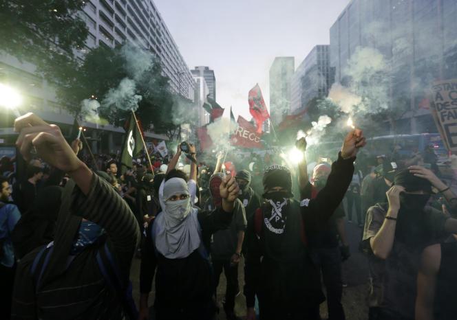 Manifestation contre les Jeux olympiques à Rio de Janeiro, le 6 juillet.