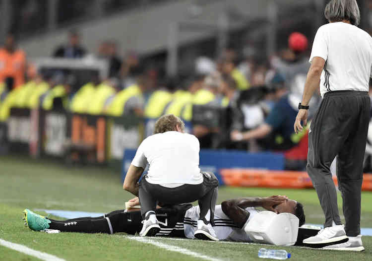 Déjà privé de Hummels, la défense allemande n'a pas été chanceuse puisque Jerome Boateng s'est blessé en deuxième période.