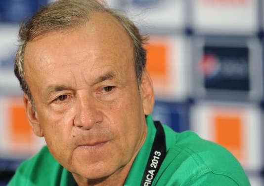 Gernot Rohr, en 2013, lorsqu'il était sélectionneur du Niger.