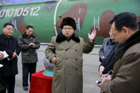 Un cliché non daté montrant le dirigeant nord-coréen Kim Jong-un.