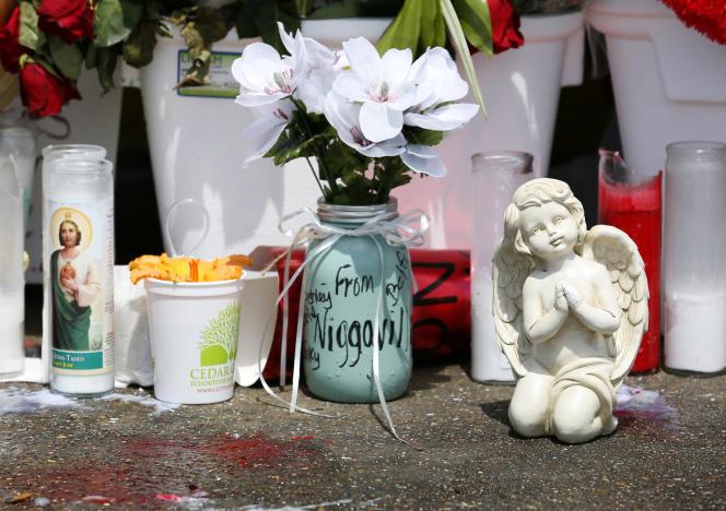 A Bâton-Rouge, en Louisiane, où a été tué Alton Sterling.