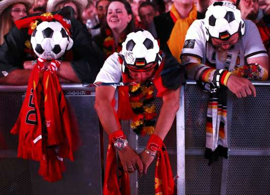 Des supporteurs allemands, le 7 juillet à Marseille.