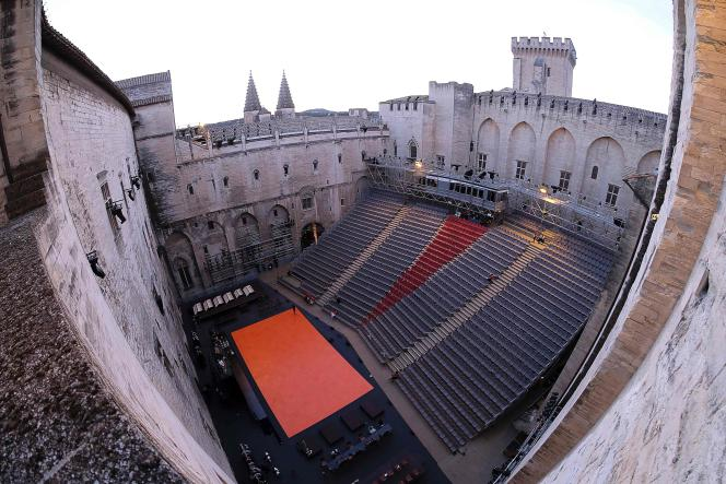 La Cour d'honneur du Palais des papes à Avignon, en juillet 2016.
