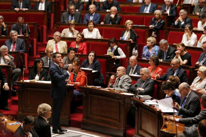 Manuel Valls à l'Assemblée nationale, le 6 juillet.