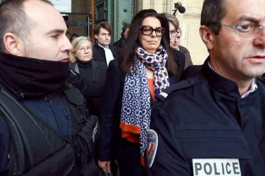 Françoise Bettencourt Meyers, à la sortie du tribunal de Bordeaux, le 26 janvier 2015.