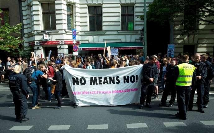 Lors d'une manifestation à Berlin contre les violences sexuelles, en juin 2016.