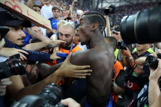 Paul Pogba, le 7 juillet 2016, à l'issue du match France-Allemagne.
