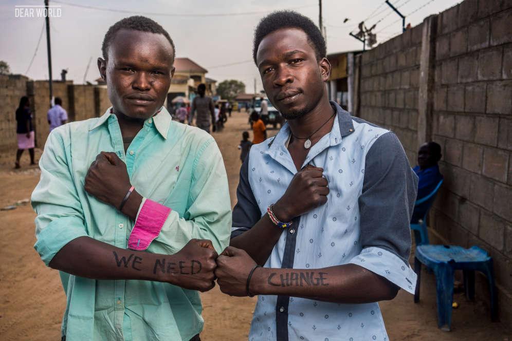 Jeunes gens dans les rues de Juba :« Nous avons besoin de changement».