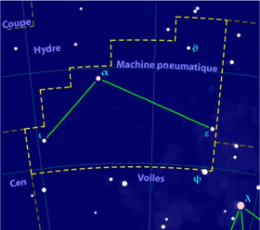 Constellation de la machine pneumatique. Vivement le chevalier du Zodiaque du même nom.