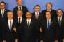Le président américain Barack Obama, Jens Stoltenberg (à gauche), David Cameron, François Hollande au sommet de l'Otan le 8 juillet à Varsovie en Pologne.