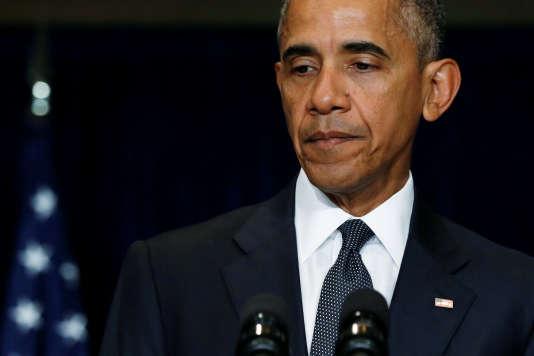 « Les policiers de Dallas ne faisaient qu'accomplir leur mission, celle d'assurer la sécurité des citoyens pendant une manifestation pacifique », a dit le président Obama.