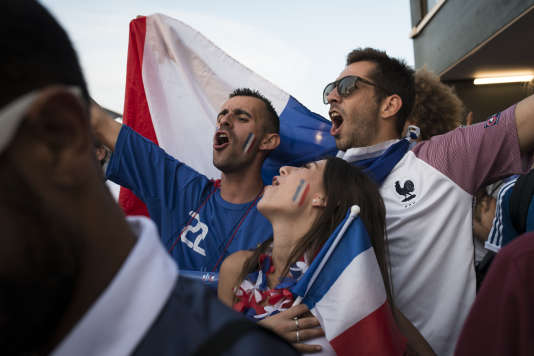 Dans la fan zone à Marseille, le 7 juillet.