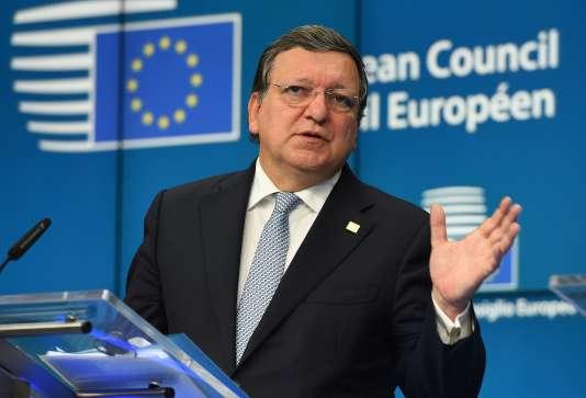 L'ancien président de la Commission européenne José Manuel Barroso, en octobre 2014.