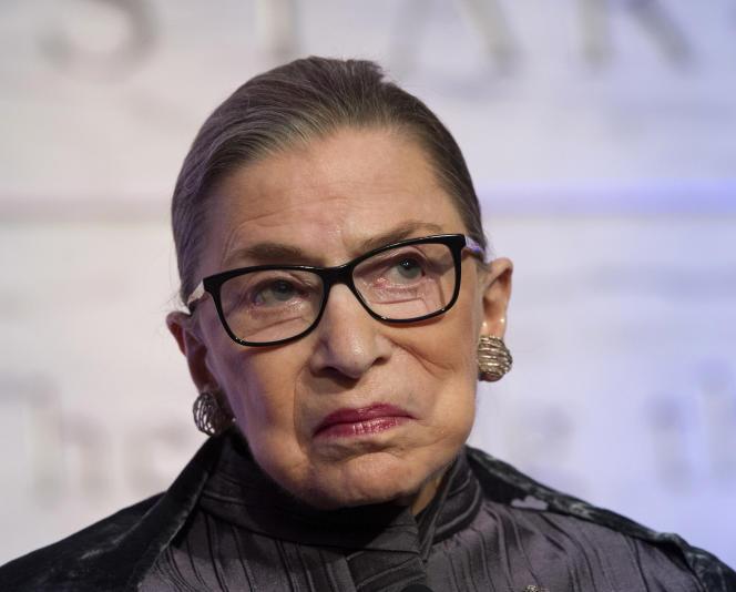 La juge de la Cour suprême Ruth Bader Ginsburg, à Washington, le 1er juin 2016.