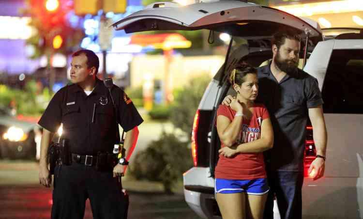 Près de la scène de la fusillade, le 7 juillet 2016 à Dallas.
