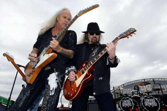 Le groupeLynyrd Skynyrd lors d'un concert à Forth Worth au Texas, le 9 avril.