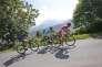 Daniel Navarro, Vincenzo Nibali et Daryl Impey dans le col d'Aspin, lors de la septième étape du Tour de France, vendredi 8 juillet