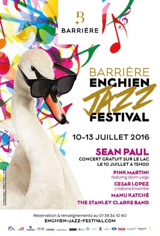 Affiche duBarrière Enghien Jazz Festival.