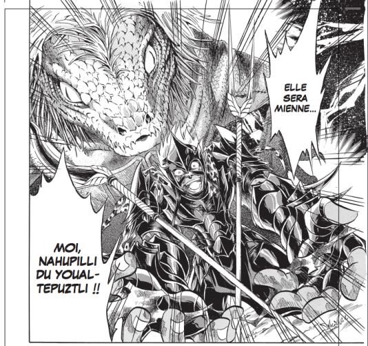 Nahupilli deYoualtepuztli, l'un des rares combattants officiels issus de légendes aztèques.