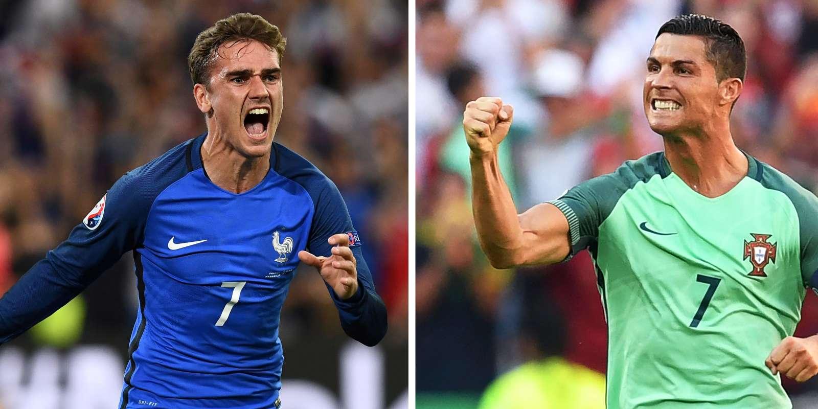 Les coéquipiers de Griezmann et Ronaldo s'affrontent en finale de l'Euro.