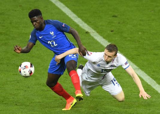 Samuel Umtiti, le 3 juillet, au Stade de France.