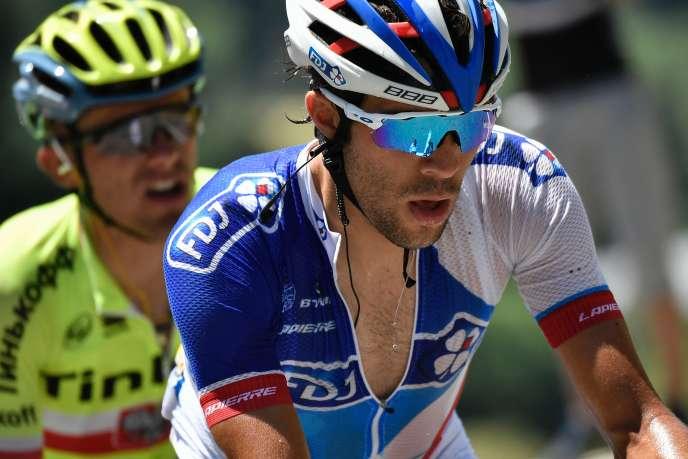Thibaut Pinot sur le Tour de France, en 2016.