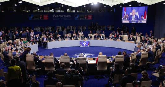 Réunion des chefs d'Etats de l'OTAN au Sommet de Varsovie, le 9 juillet.