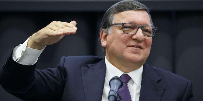 L'ex-président de la Commission européenneJosé Manuel Barroso lors d'une conférence à Londres, le 26 avril 2016.