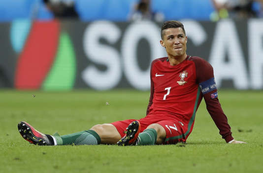 Cristiano Ronaldo au Stade de France, le 10 juillet.