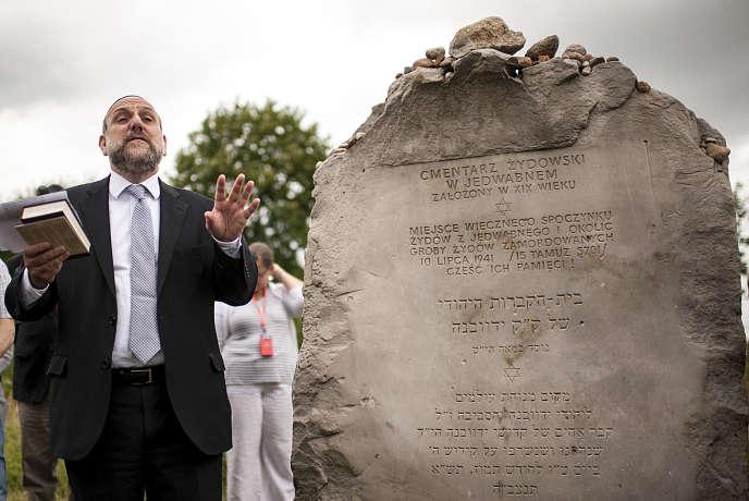 Le Grand Rabbin de Pologne, Michael Schudrich, lors des commémorations du massacre de Jedwabne, le 10 juillet.