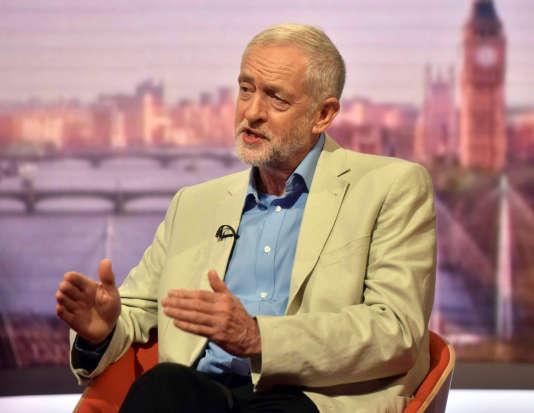 Le chef du Labour, Jeremy Corbyn, sur la BBC le 10 juillet 2016.