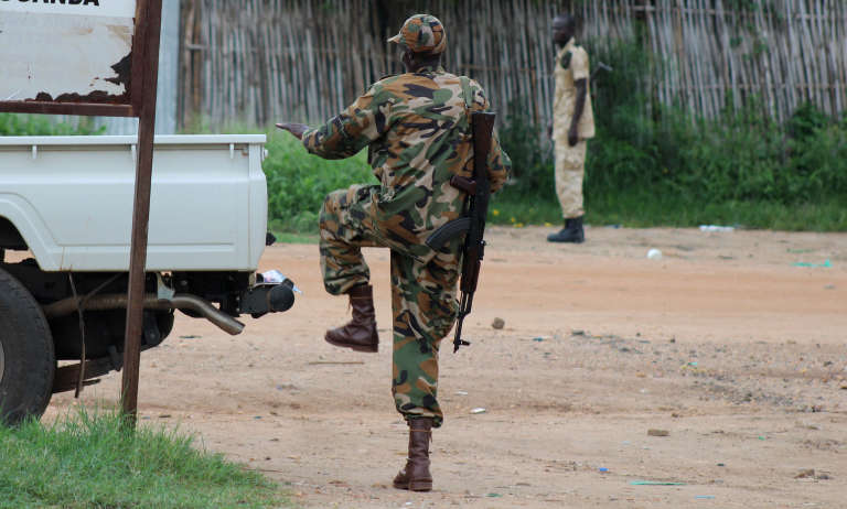 Dans les rues de la capitale sud-soudanaise Juba, le 10 juillet.