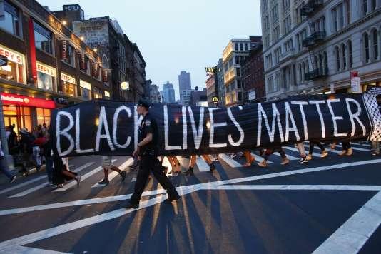 Manifestation du mouvement Black Lives Matter le 9 juillet à New York.