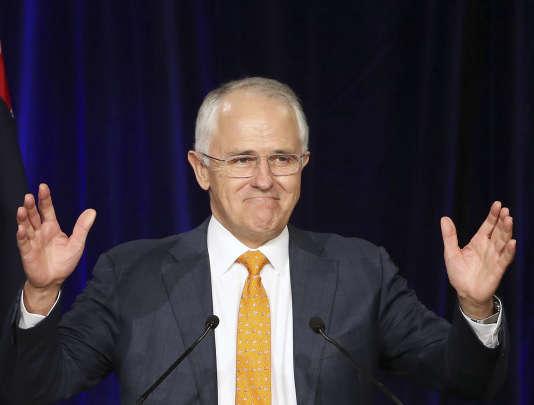 Le chef du Parti libéral, Malcom Turnbull, devrait disposer d'une très courte majorité grâce à une coalition avec des indépendants.