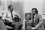 Sydney Schanberg et Dith Pran, son assistant cambodgien, dans les bureaux du «New York Time» en 1980.