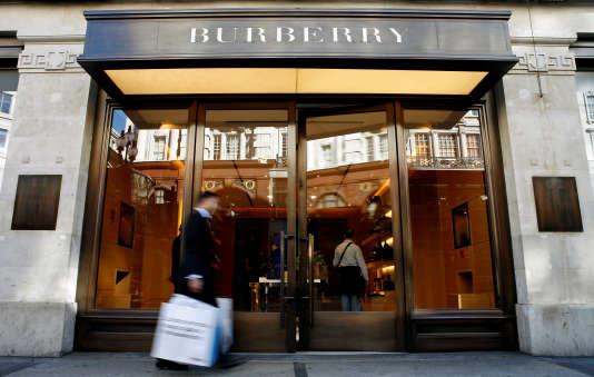 Une boutique Burberry dans le centre de Londres, en 2008.