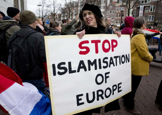 Lors d'une manifestation contre l'immigration, en février à Amsterdam.