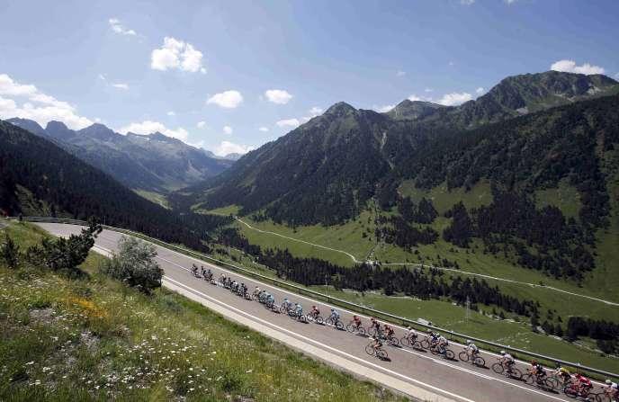 Lors de la 9e étape du Tour de France, entre Veilha Val d'Aran et Andorre Arcalis, dimanche 10 juillet.