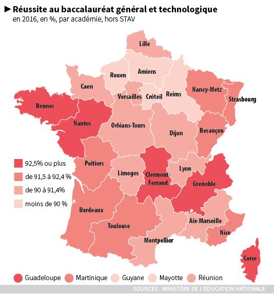 Résultats du bac 2016.