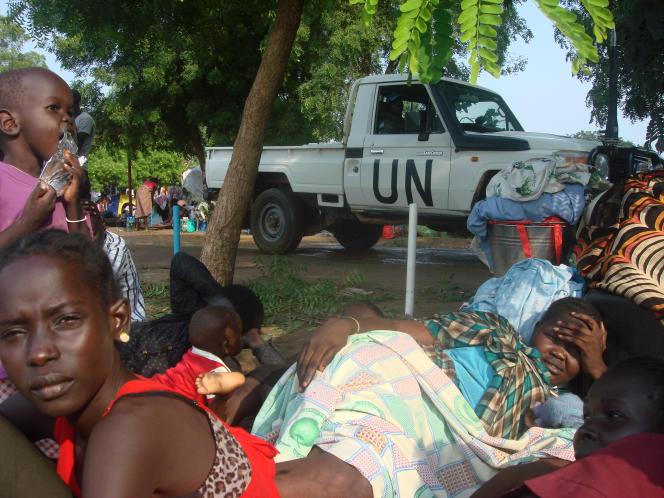 Des réfugiés à Juba le 11 juillet.