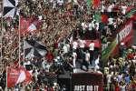 Les héros de tout un peuple sont rentrés lundi au Portugal pour célébrer leur victoire historique à l'Euro 2016.
