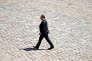 Francois Hollande aux funérailles de l'ancien premier ministre socialiste Michel Rocard, le 7 juillet.