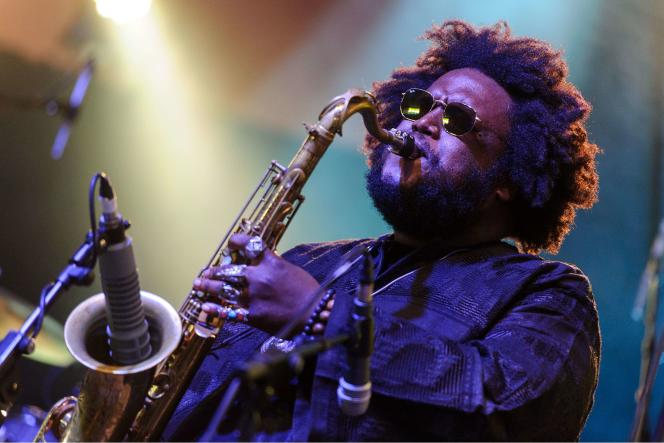 Kamasi Washington, au Love Supreme Jazz Festival, le 4 juillet, à Glynde (Royaume-Uni).